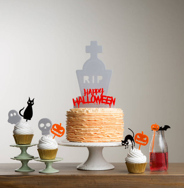 Halloween Table Party Cake Topper Decoration Set
