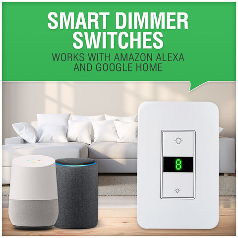 Smart wifi dimmer switch works with amazon echo