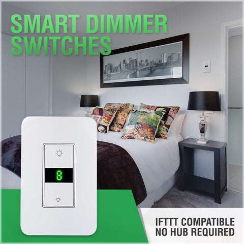 Smart wifi dimmer switch ifttt compatible