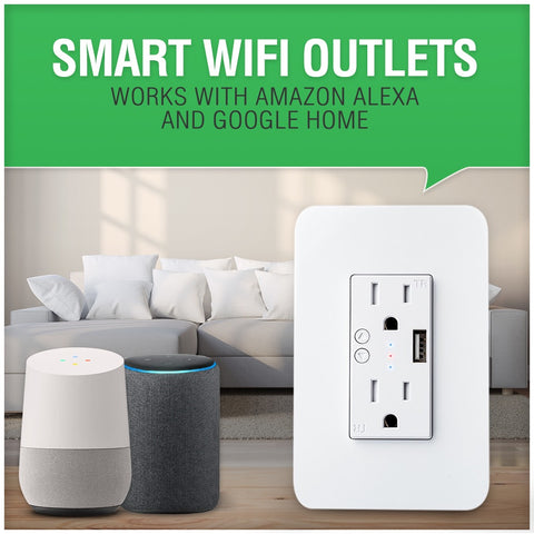 Smart wifi outlet works with amazon echo