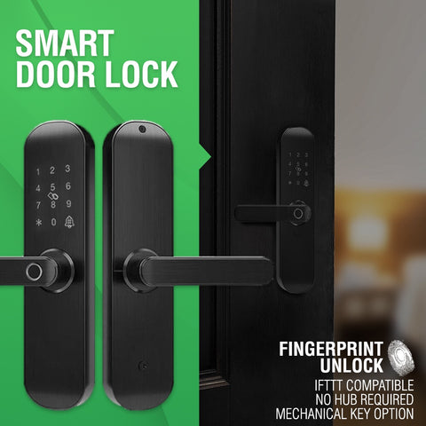 Smart wifi door lock fingerprint unlock