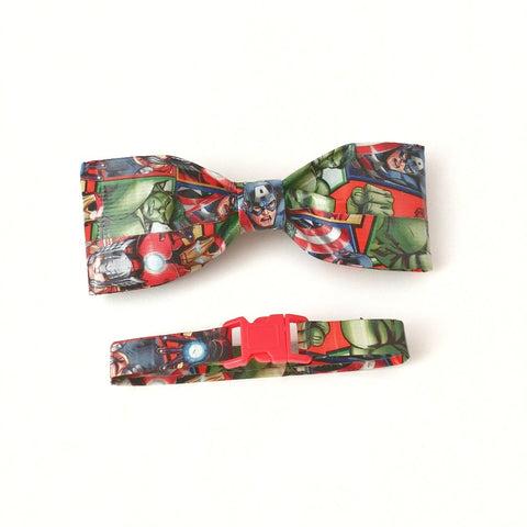 Men's Red Clip On Bow Tie, Avengers Thor Mens Gift Set, Cool Bowties