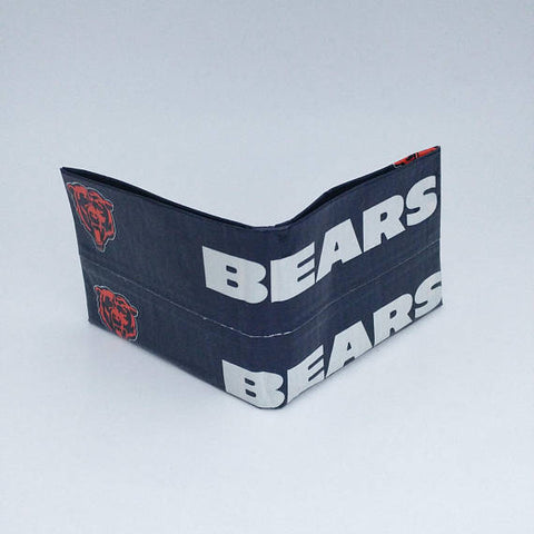 Chicago Bears NFL Men's Bifold Wallet, Cool Wallets For Men, Billfold, Men's Wallets, Ebony Rae - Ebony Rae Shop