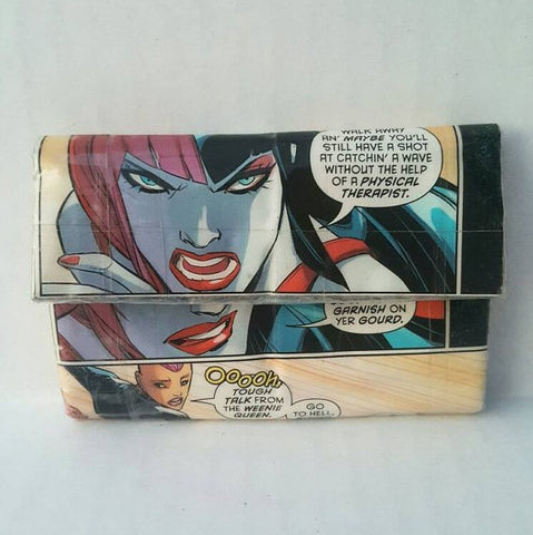 Harley Quinn Small Women's Pocket Wallet, Cool Ladies Coin Purse, Comic Book Women's Wallet, Ebony Rae - Ebony Rae Shop