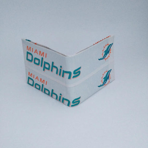 Miami Dolphins NFL Men's Bifold Wallet, Cool Wallets For Men, Billfold, Men's Wallets, Ebony Rae - Ebony Rae Shop