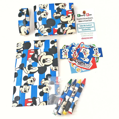 Blue Mickey Mouse Kid's Bi-Fold Wallet , Boy's Gift Set, Cool Wallets