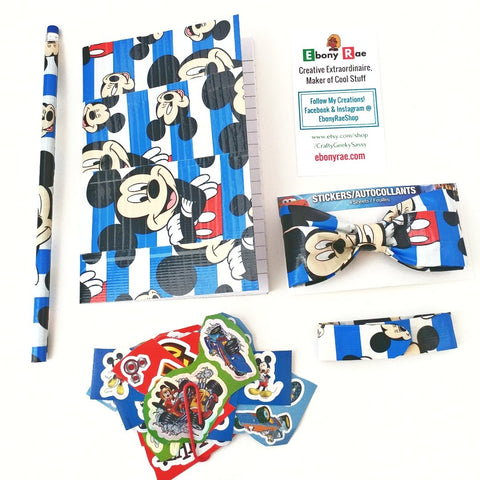Blue Boy's Clip On Bow Tie, Mickey Mouse Boy's Gift Set, Cool Kid's Bowties