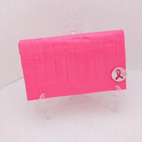 Neon Pink Clutch Bag, Inspirational Purse, Breast Cancer Awareness Gift, Clutch Handbag, Ebony Rae - Ebony Rae Shop