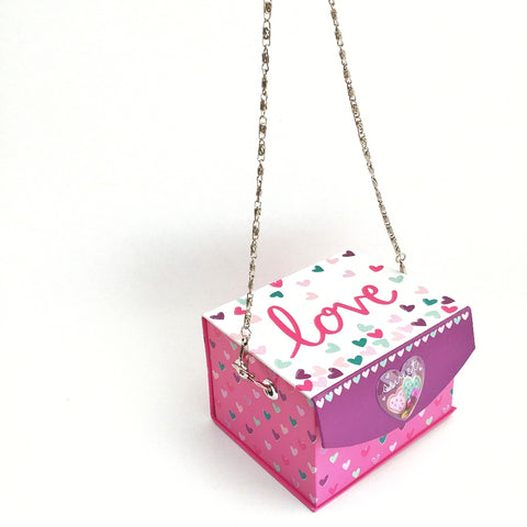 Valentine's Box, Cute Valentines Day Gift, Pink Women's Novelty Purse