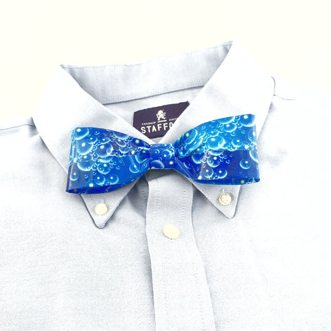 Unique Blue Bow Tie For Men, Cool Clip On Boy's Bowties, Kid's Ties