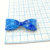 Cool Blue Clip On Bow Tie For Men, Unique Boy's Duct Tape Bowties