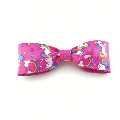 Kawaii Unicorn Rainbow Clip On Bow Tie For Men, Funny Boy's Bowties