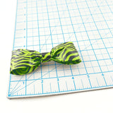 Lime Green Clip On Bow Tie For Men, Unique Boy's Bowtie, Cool Prints