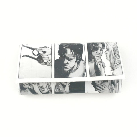 Black and White Long Women's Clutch Wallet, TWD Nerdy Gifts For Her