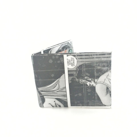 Small Black and White Bifold Wallet, Cool Billfold Wallets For Men
