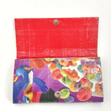 Cute Long Red Women's Wallet, Fruit Loops Novelty Clutch Bag
