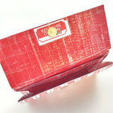 Cute Red Novelty Ticket Clutch Wallet, Cool Upcycled Women's Wallet