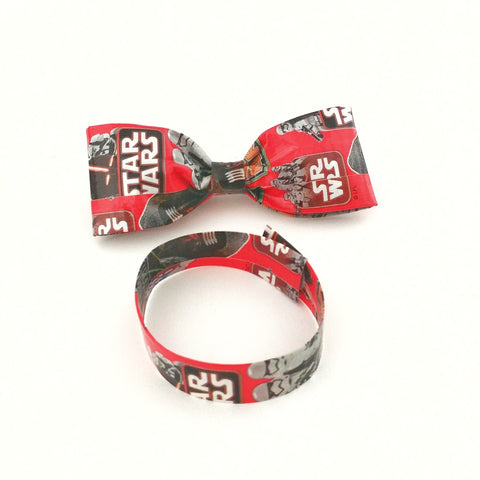 Cool Red Bow Ties For Boys, Star Wars Clip On Bow Tie, Fun Boy's Ties