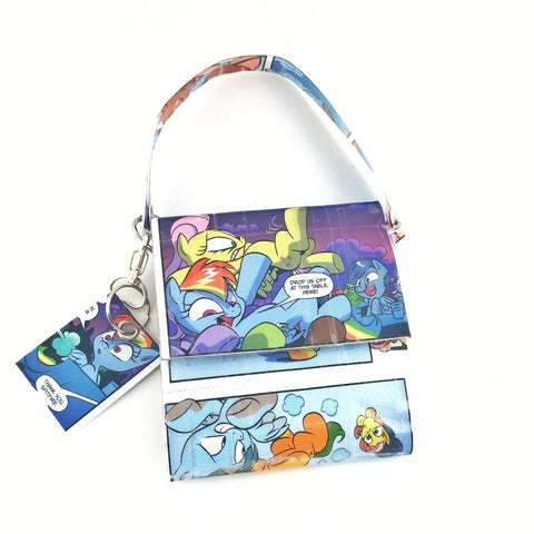 Cute Blue Mini Purse Handbag Pouch, MLP Bronies Geek Girl Gifts