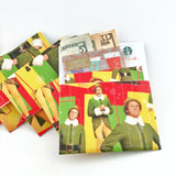 Cute Mini Note Cards, Buddy The Elf Christmas Gift Card Holders
