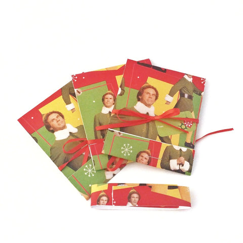 Funny Buddy the Elf Christmas Matchbook Gift Card Holder Set of 3