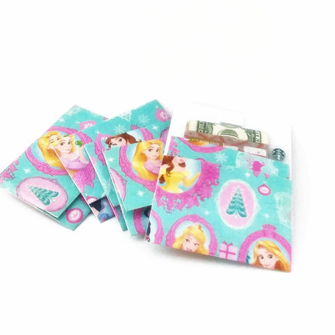 Disney Princess Mini Envelope Gift Card Holder, Girls Stocking Stuffer