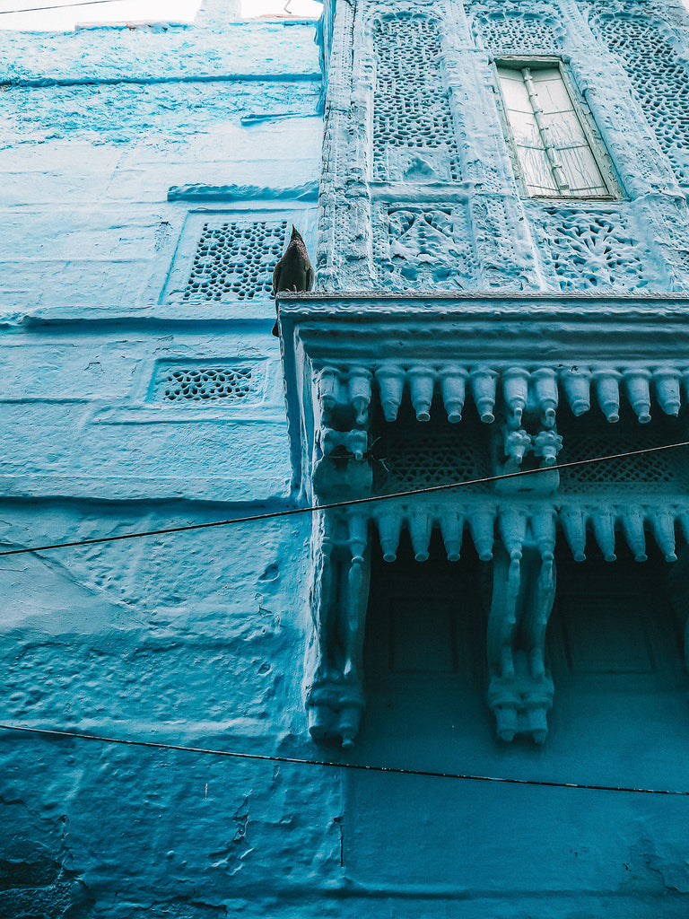 Blue city Jodhpur by Natalie Bannister for Tulasii