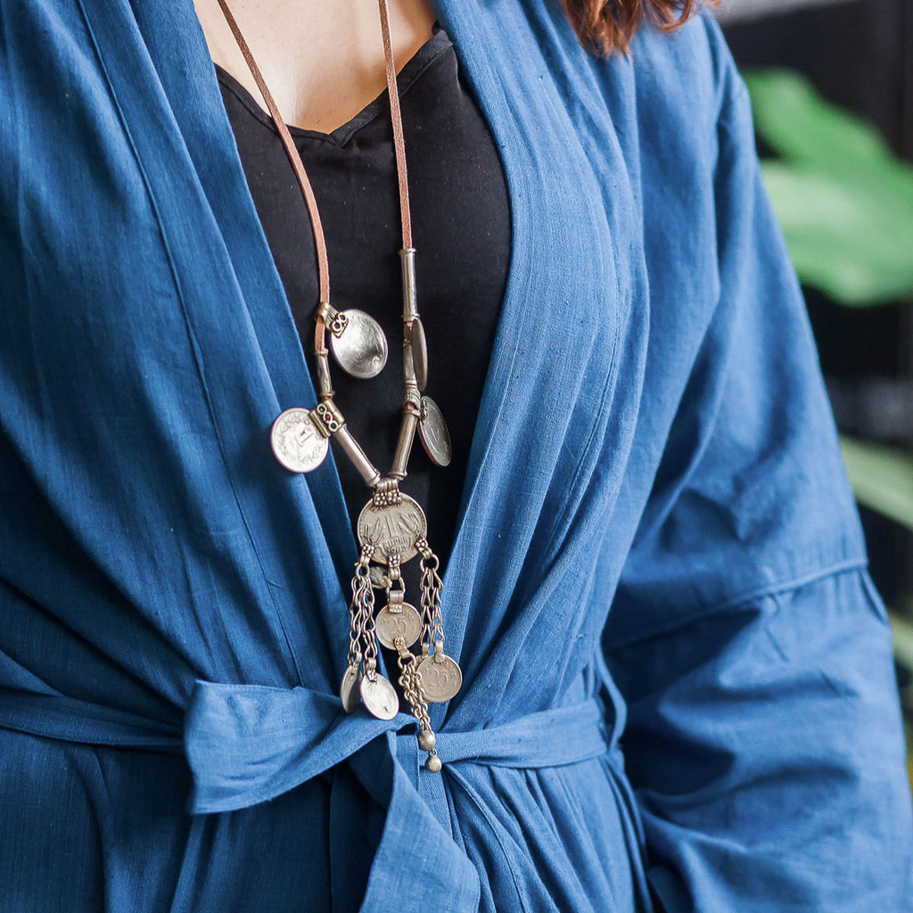 Indus light indigo robe