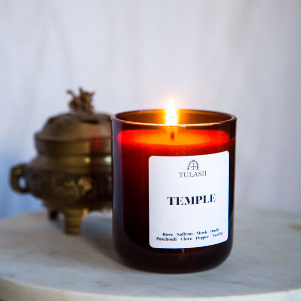 Temple scented candle