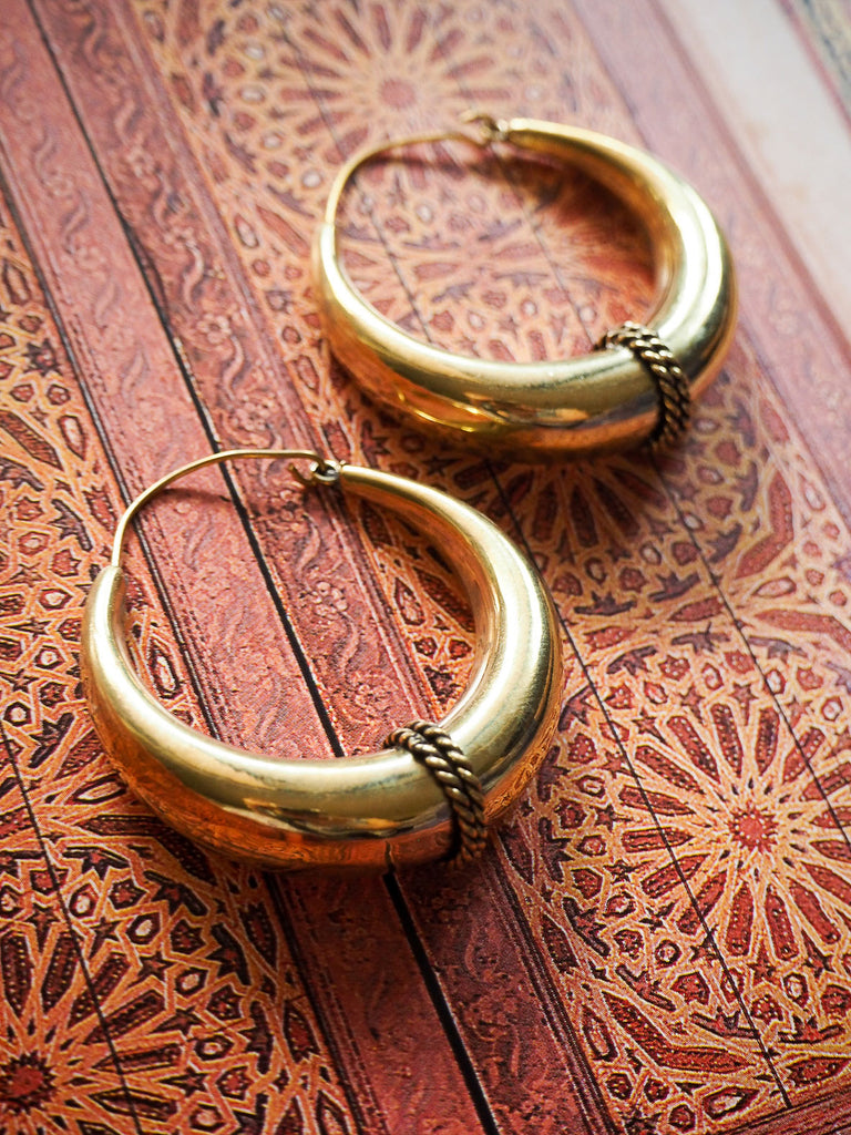 Fia brass earrings