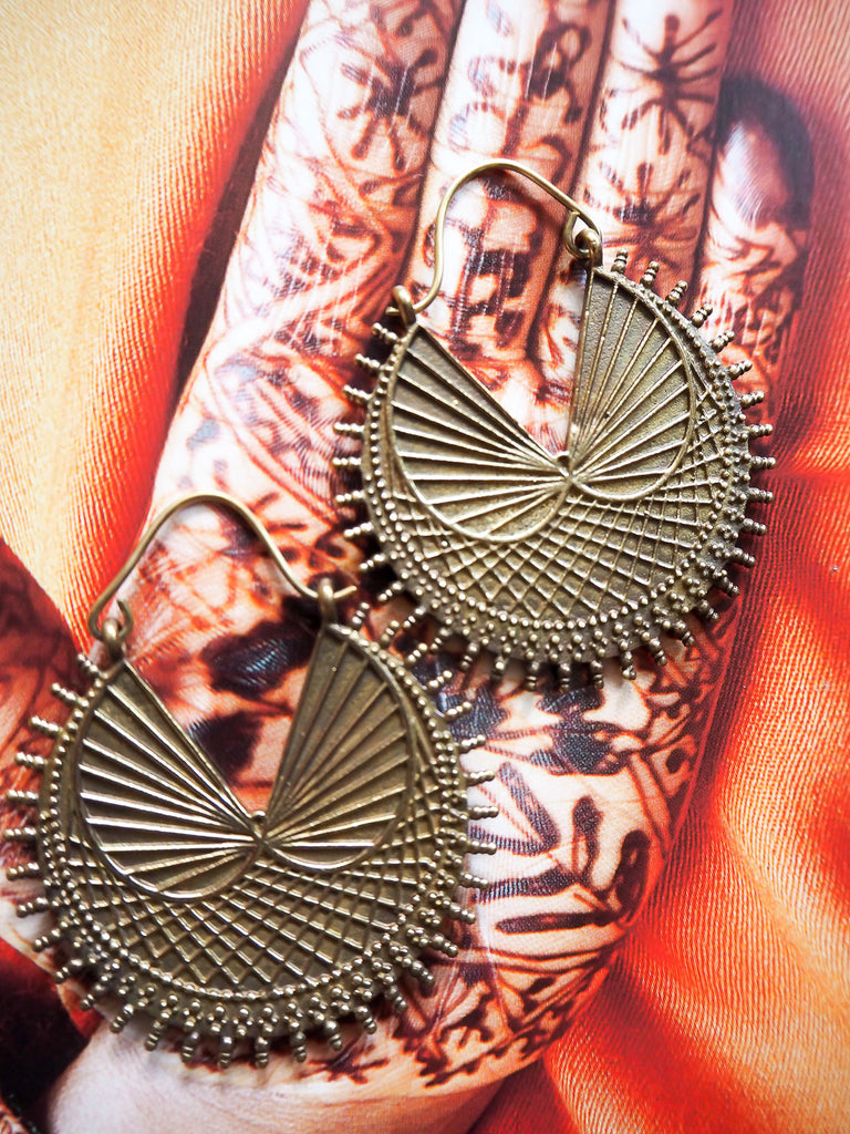 Sanna brass earrings