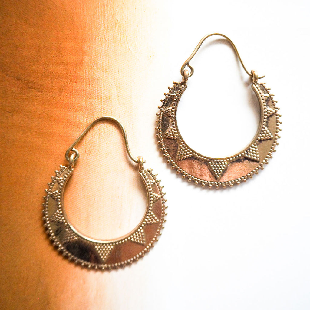 Uma brass earrings