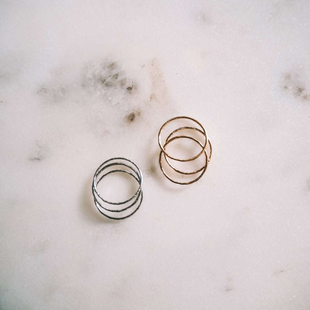 Unity stacker rings - set of 3