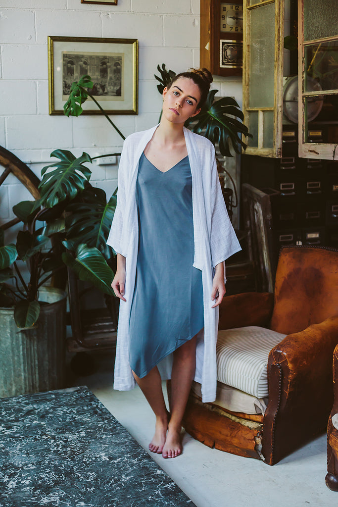 Maya cotton robe