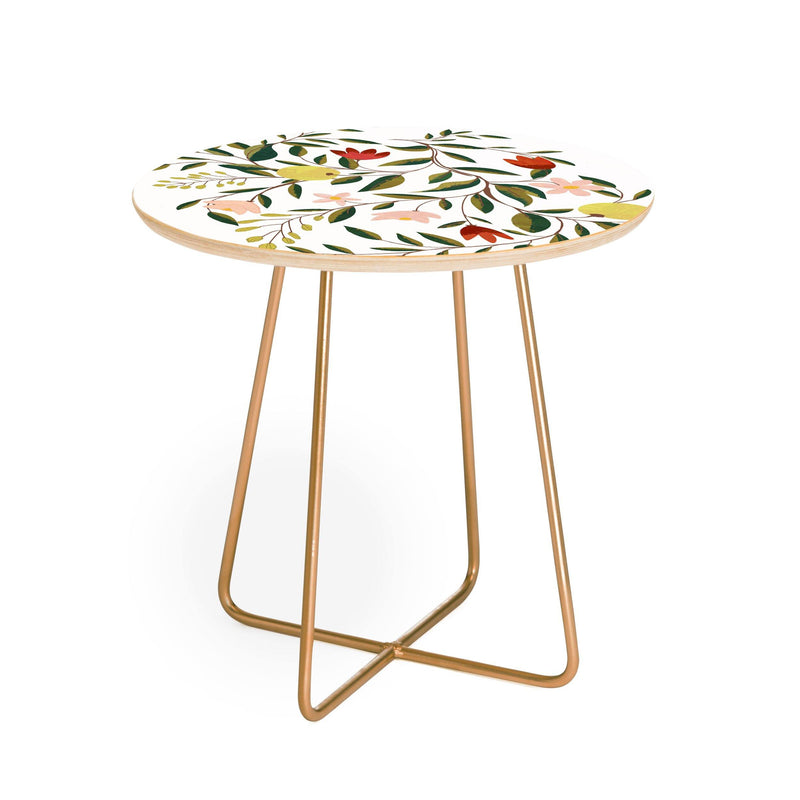 83 Oranges Lovely And Fine Round Side Table - theprintypeople