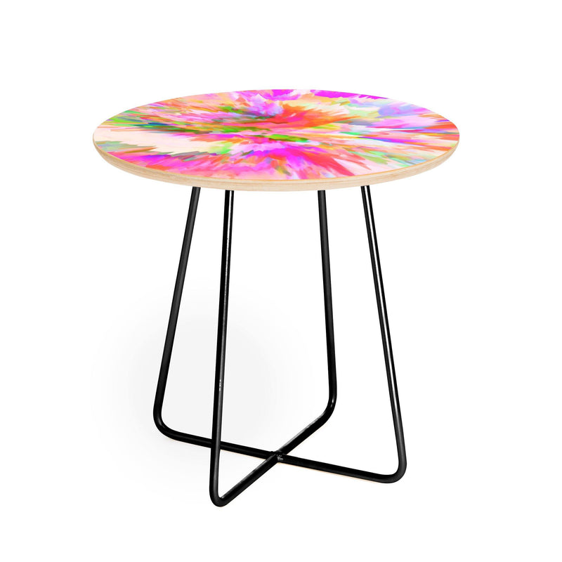 Adam Priester Color Round Side Table - Round Side Table - theprintypeople