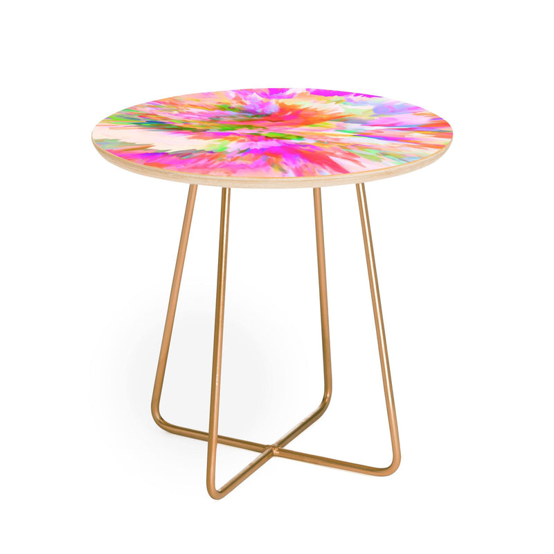 Adam Priester Color Explosion Iv Round Side Table - theprintypeople