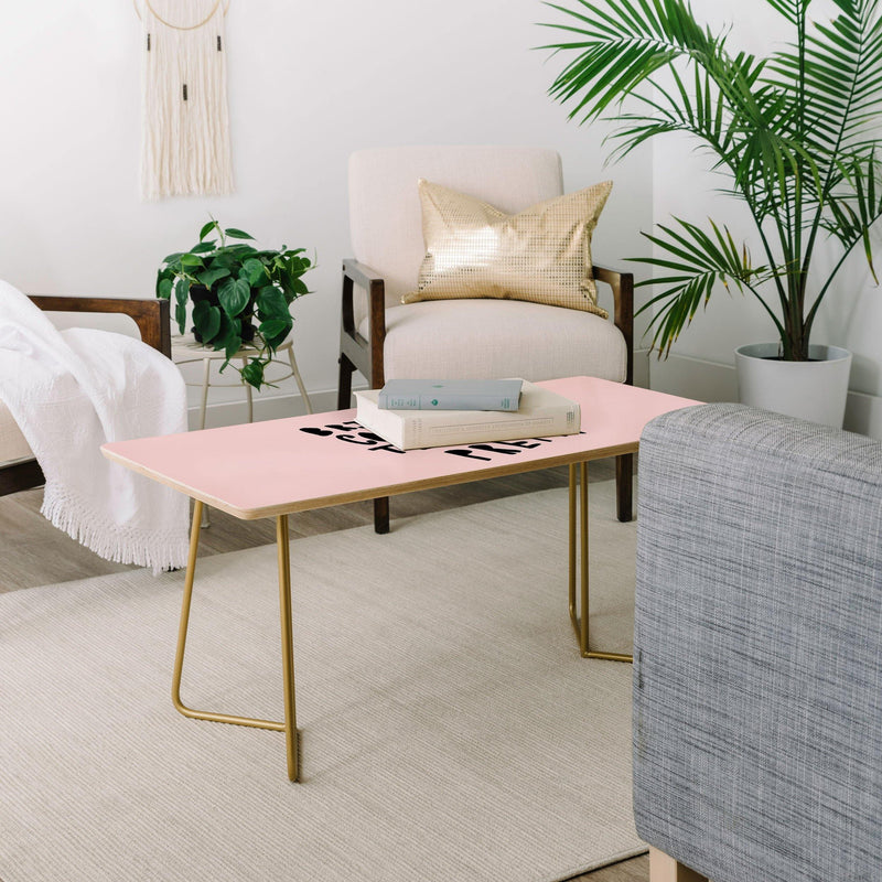 Allyson Johnson Bring Me Coffee Pink Coffee Table - theprintypeople