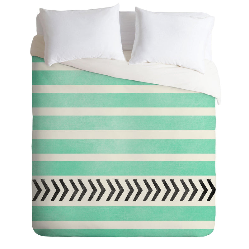 Allyson Johnson Mint Stripes And Arrows Duvet Cover - theprintypeople