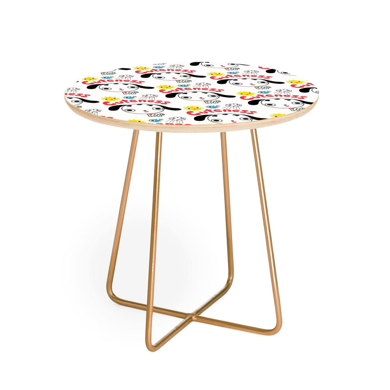 Andi Bird Cuteness Puppy Round Side Table - theprintypeople