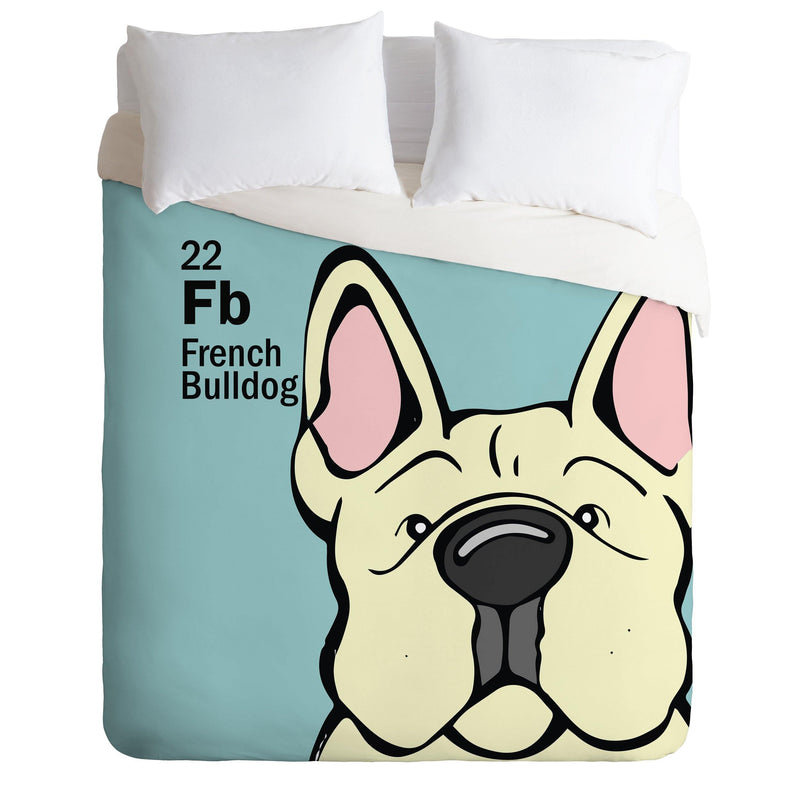 Angry Squirrel Studio French Bulldog 22 Duvet Cover - the printy people