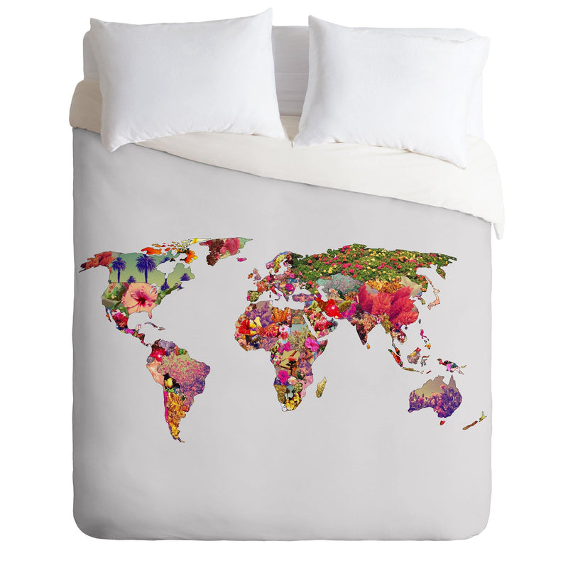 Bianca Green Its Your World Duvet Cover - the printy people