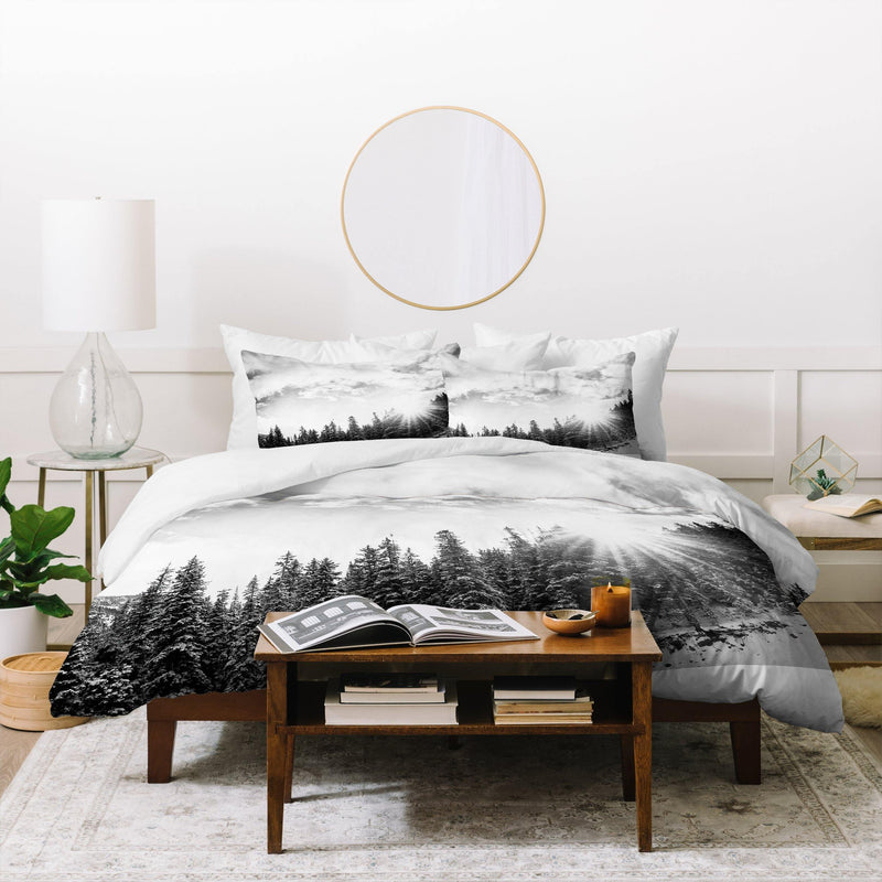 Bird Wanna Whistle White Mountain Duvet Cover - theprintypeople