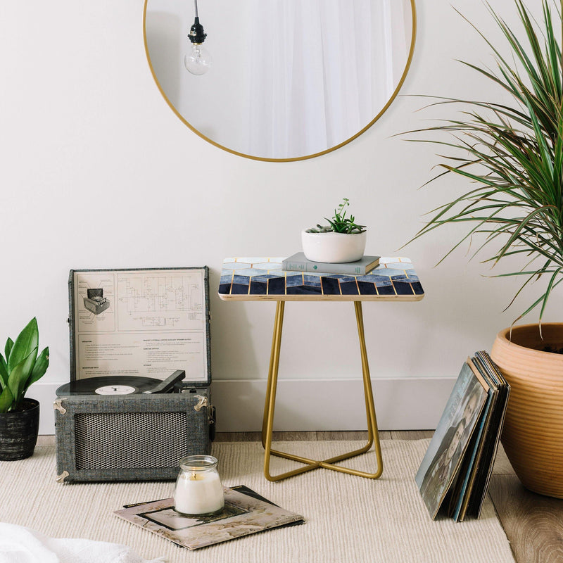 Elisabeth Fredriksson Soft Blue Hexagons Side Table - the printy people