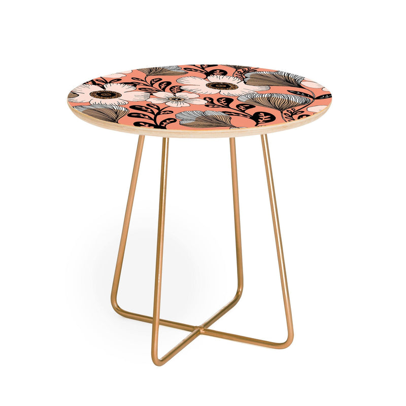 Gabriela Fuente Maxi Floral Round Side Table - the printy people