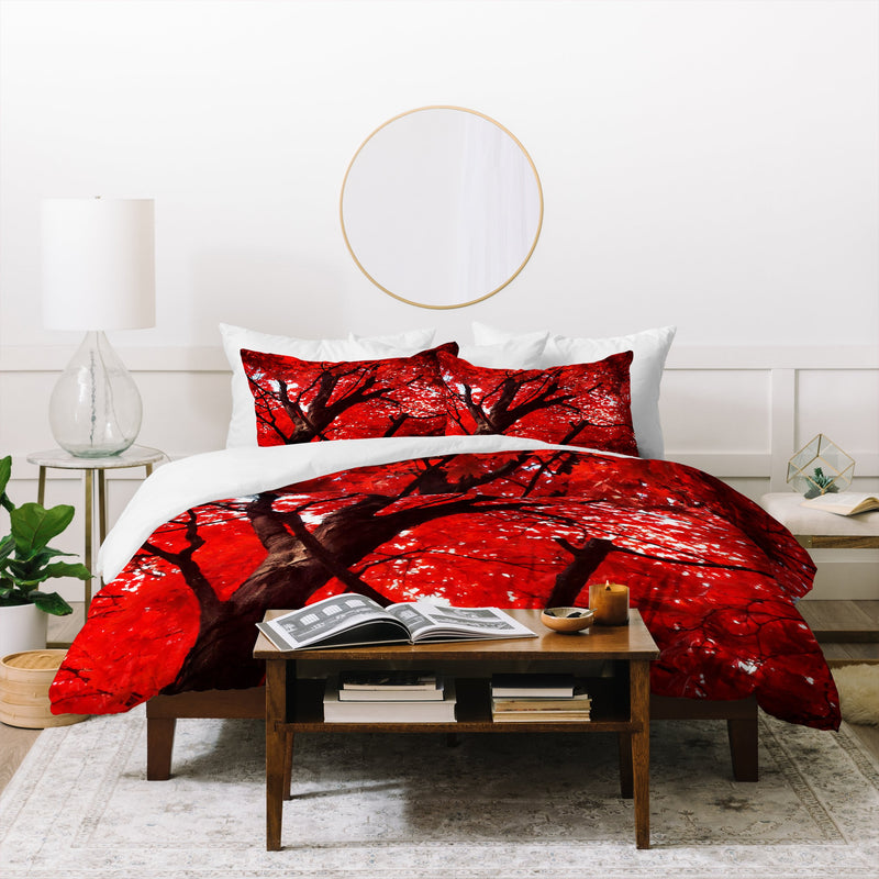 Happee Monkee Red Canopy Duvet Cover - theprintypeople