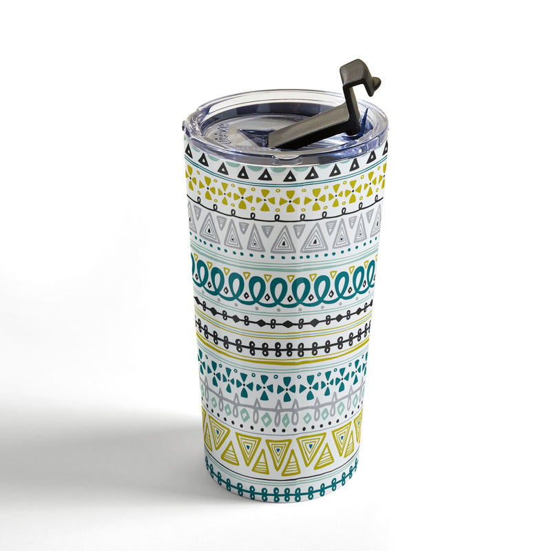 Heather Dutton Boho Market Stripe Travel Mug - the printy people