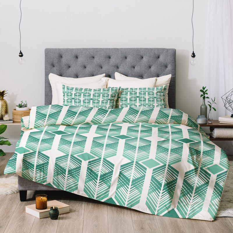 Heather Dutton De Lux Mint Comforter - theprintypeople