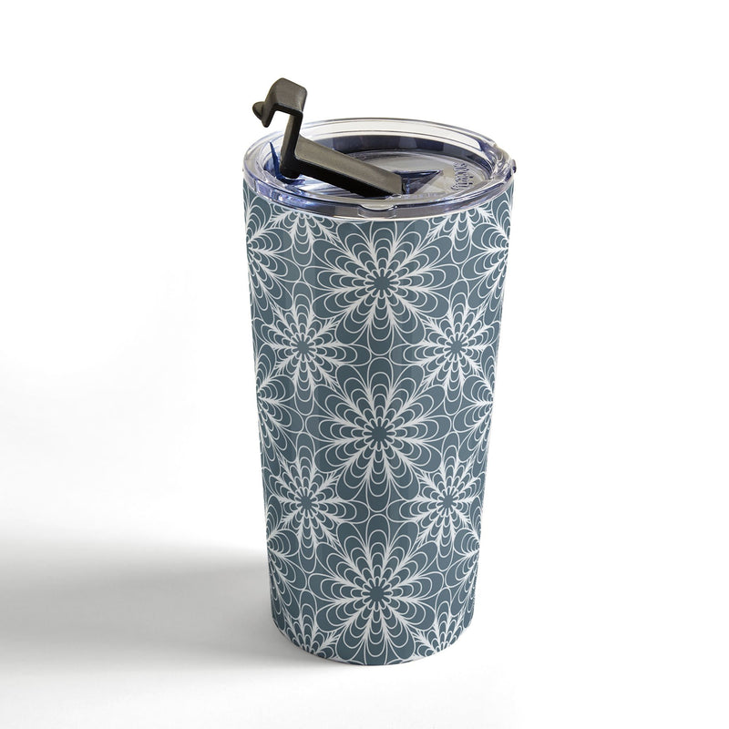 Heather Dutton Flora Midnight Travel Mug - theprintypeople