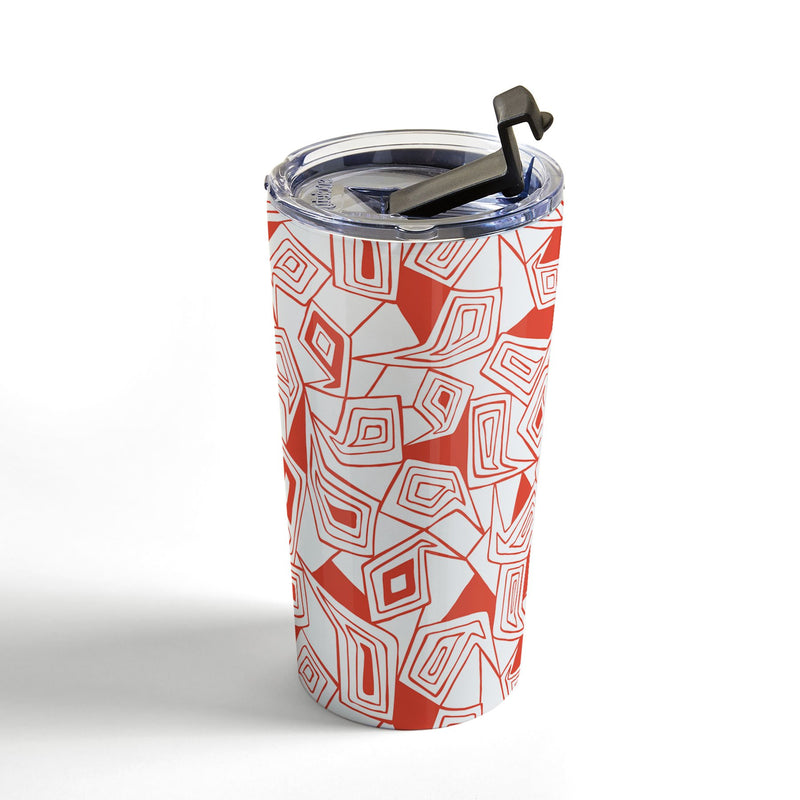 Heather Dutton Fragmented Flame Travel Mug - theprintypeople